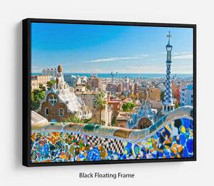 Park Guell Floating Frame Canvas