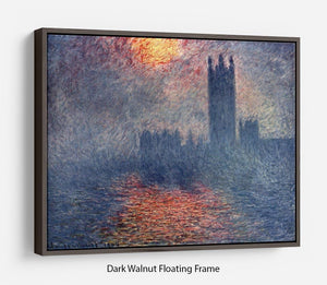 Parliament in London by Monet Floating Frame Canvas