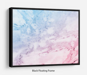 Pastel blue and pink marble Floating Frame Canvas