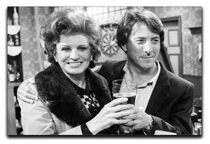 Pat Phoenix and Dustin Hoffman Rovers Return Canvas Print or Poster  - Canvas Art Rocks - 1