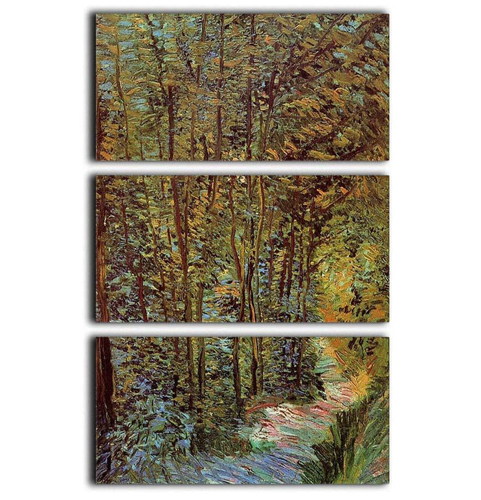 Path in the Woods by Van Gogh 3 Split Panel Canvas Print