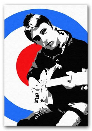Paul Weller Mod Target Print - Canvas Art Rocks - 1