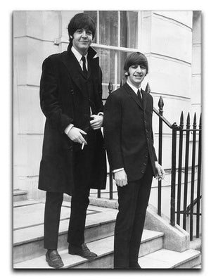 Paul McCartney and Ringo Starr going to collect their MBEs Canvas Print or Poster  - Canvas Art Rocks - 1