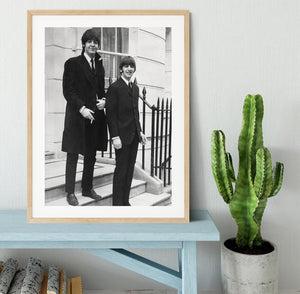 Paul McCartney and Ringo Starr going to collect their MBEs Framed Print - Canvas Art Rocks - 3