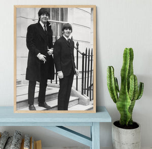 Paul McCartney and Ringo Starr going to collect their MBEs Framed Print - Canvas Art Rocks - 4