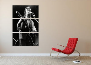 Paul McCartney on stage in 1989 3 Split Panel Canvas Print - Canvas Art Rocks - 2