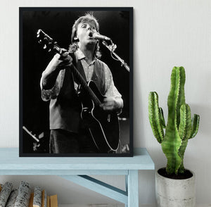 Paul McCartney on stage in 1989 Framed Print - Canvas Art Rocks - 2