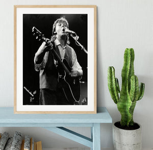 Paul McCartney on stage in 1989 Framed Print - Canvas Art Rocks - 3
