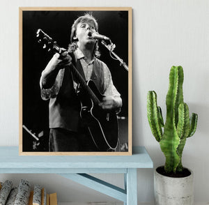 Paul McCartney on stage in 1989 Framed Print - Canvas Art Rocks - 4