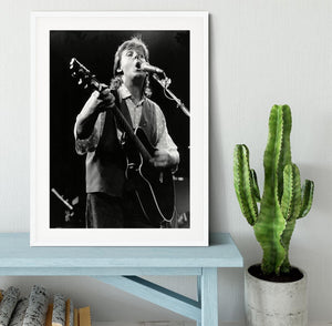 Paul McCartney on stage in 1989 Framed Print - Canvas Art Rocks - 5