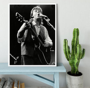Paul McCartney on stage in 1989 Framed Print - Canvas Art Rocks -6