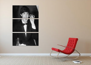Paul McCartney with a cigar 3 Split Panel Canvas Print - Canvas Art Rocks - 2