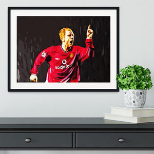 Paul Scholes Framed Print - Canvas Art Rocks - 1