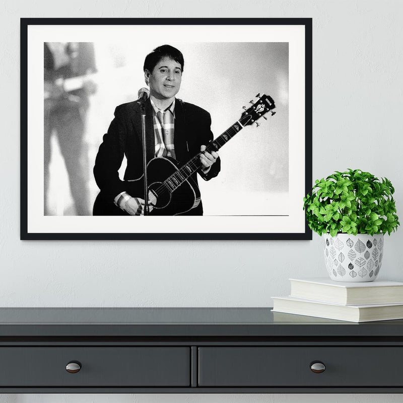 Paul Simon Framed Print - Canvas Art Rocks - 1