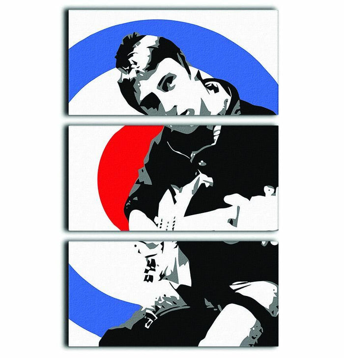 Paul Weller Mod Target 3 Split Panel Canvas Print