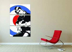 Paul Weller Mod Target 3 Split Panel Canvas Print - Canvas Art Rocks - 2