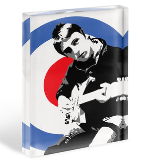 Paul Weller Mod Target Acrylic Block - Canvas Art Rocks - 1