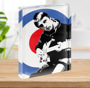 Paul Weller Mod Target Acrylic Block - Canvas Art Rocks - 2