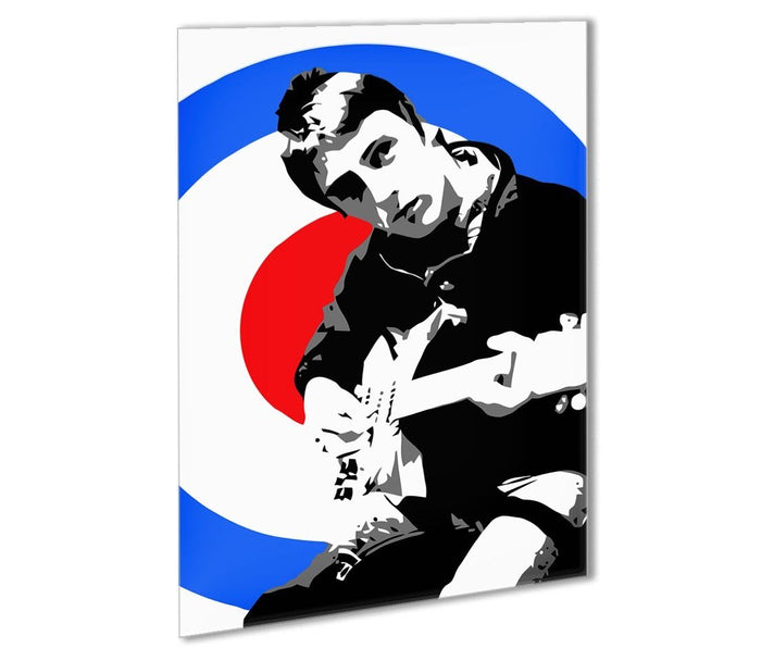 Paul Weller Mod Target Outdoor Metal Print