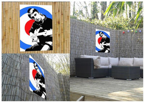 Paul Weller Mod Target Outdoor Metal Print - Canvas Art Rocks - 2