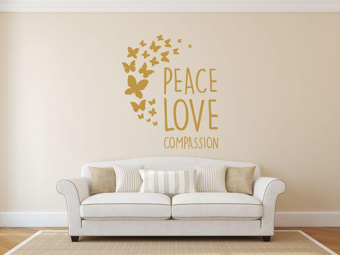 Peace, Love Compassion Wall Sticker
