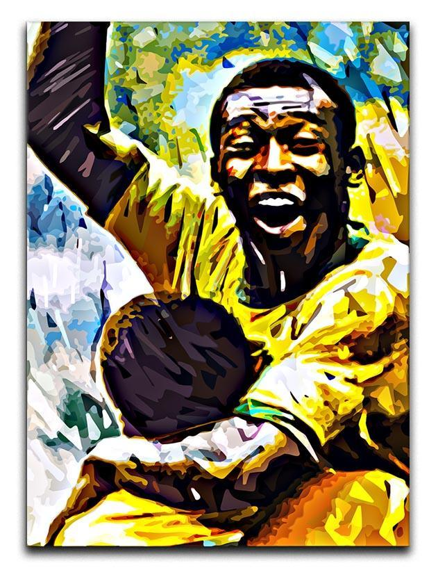 Pele Pop Art Canvas Print or Poster
