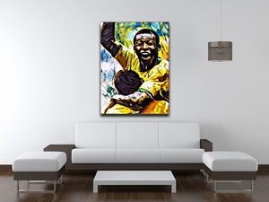 Pele Pop Art Canvas Print or Poster - Canvas Art Rocks - 4