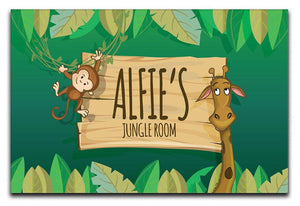 Personalised Children's Jungle Room Canvas Print - Canvas Art Rocks