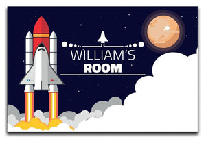 Personalised Children's Space Ship Canvas Print - Canvas Art Rocks