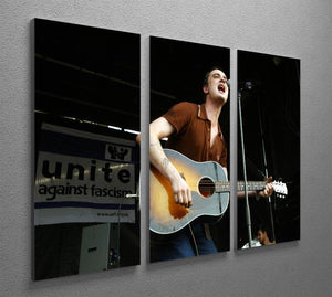 Pete Doherty on stage 2005 3 Split Panel Canvas Print - Canvas Art Rocks - 2