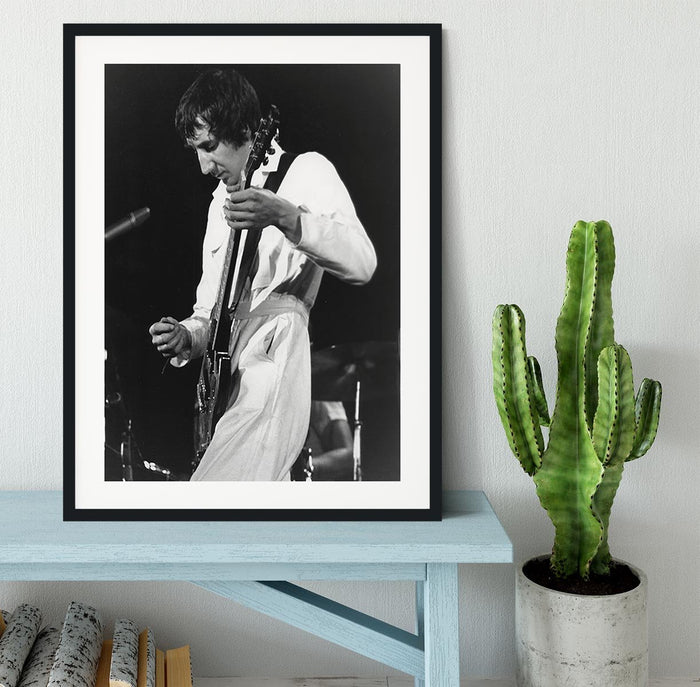 Pete Townshend At Tanglewood Music Shed Framed Print