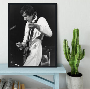 Pete Townshend At Tanglewood Music Shed Framed Print - Canvas Art Rocks - 2