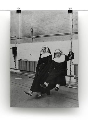 Peter Cook and Dudley Moore dressed as nuns Canvas Print or Poster - Canvas Art Rocks - 2