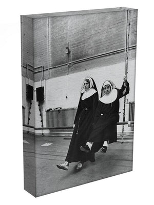 Peter Cook and Dudley Moore dressed as nuns Canvas Print or Poster - Canvas Art Rocks - 3