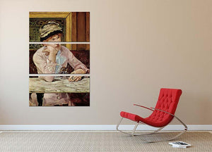 Pflaume by Manet 3 Split Panel Canvas Print - Canvas Art Rocks - 2