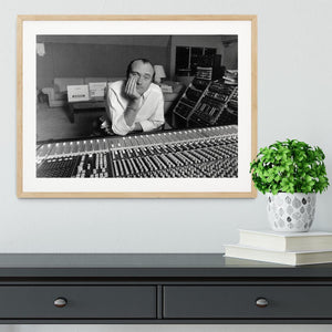 Phil Collins in the studio Framed Print - Canvas Art Rocks - 3