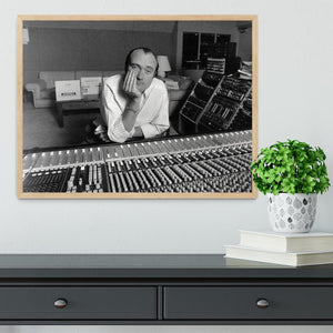 Phil Collins in the studio Framed Print - Canvas Art Rocks - 4