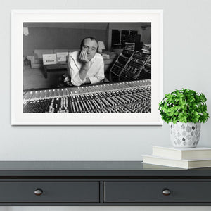 Phil Collins in the studio Framed Print - Canvas Art Rocks - 5