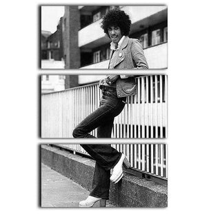 Phil Lynott 3 Split Panel Canvas Print - Canvas Art Rocks - 1