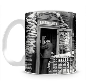 Phone box with sandbags Mug - Canvas Art Rocks - 2