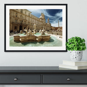 Piazza Navona Rome Framed Print - Canvas Art Rocks - 1