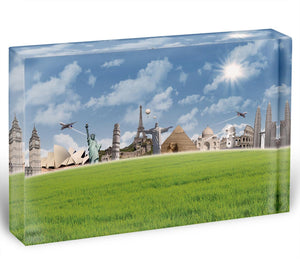 Picture of different landmarks Acrylic Block - Canvas Art Rocks - 1