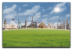 Picture of different landmarks Canvas Print or Poster  - Canvas Art Rocks - 1