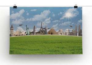 Picture of different landmarks Canvas Print or Poster - Canvas Art Rocks - 2