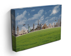 Picture of different landmarks Canvas Print or Poster - Canvas Art Rocks - 3