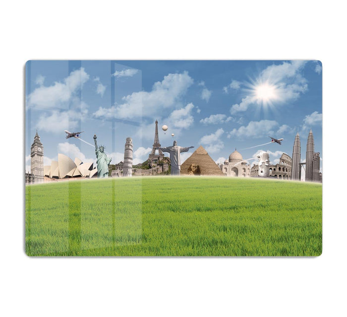 Picture of different landmarks HD Metal Print