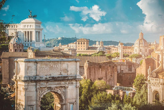 Picturesque View of the Roman Forum Wall Mural Wallpaper