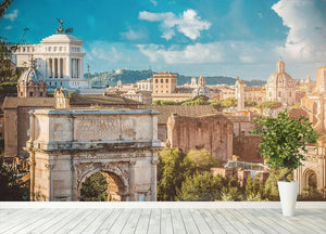 Picturesque View of the Roman Forum Wall Mural Wallpaper - Canvas Art Rocks - 4
