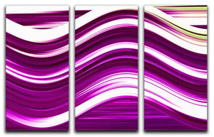Pink Wave 3 Split Panel Canvas Print - Canvas Art Rocks - 1