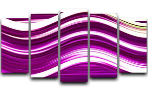 Pink Wave 5 Split Panel Canvas - Canvas Art Rocks - 1